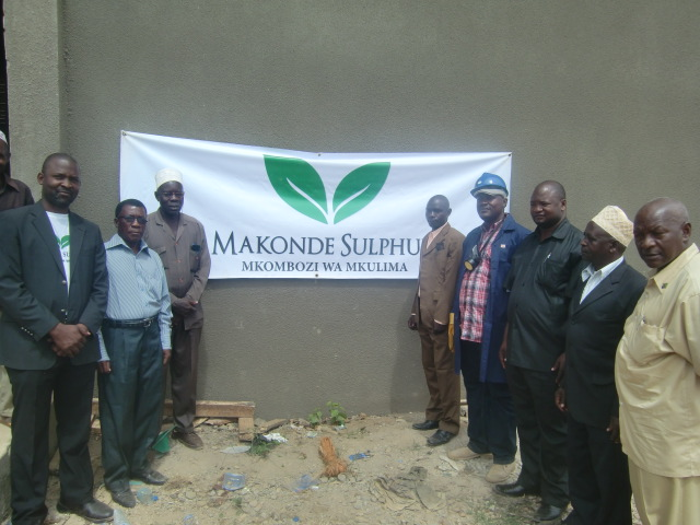Tandahimba farmers representatives participating on the launch of Makonde Sulphur distribution campaign