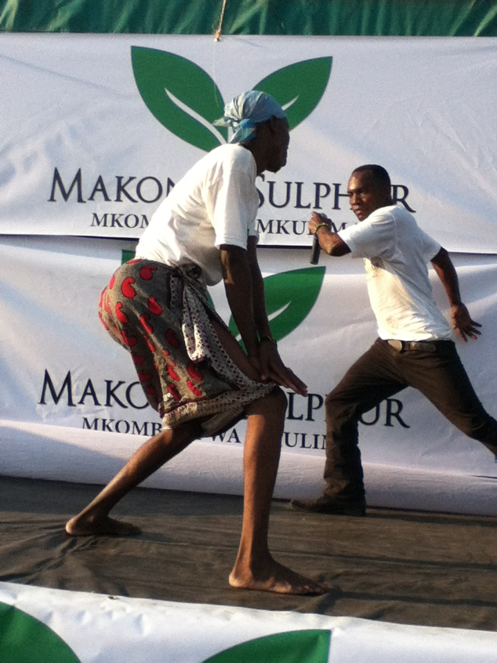 Entertainment during National Farmers Exhibition in Lindi